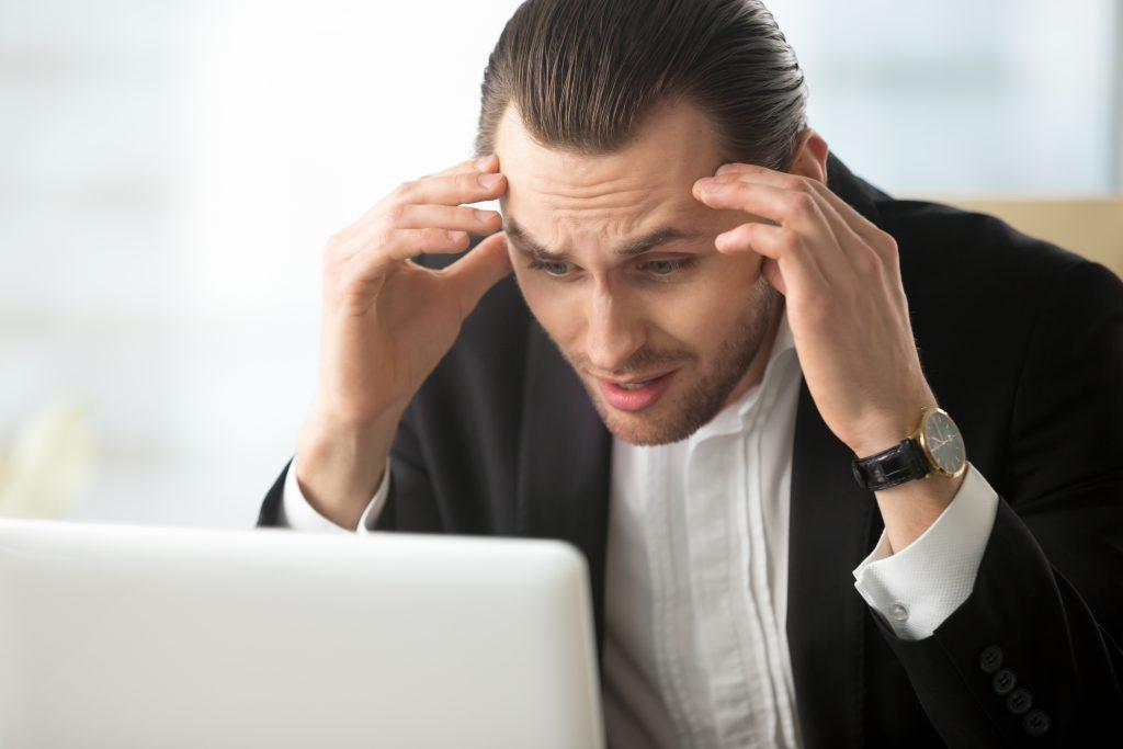 businessman despair because bad news 1
